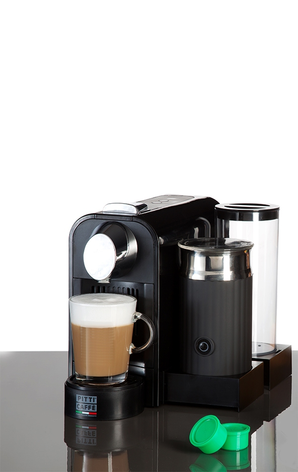 METROPOLITAN PLUS capsules with milk frother