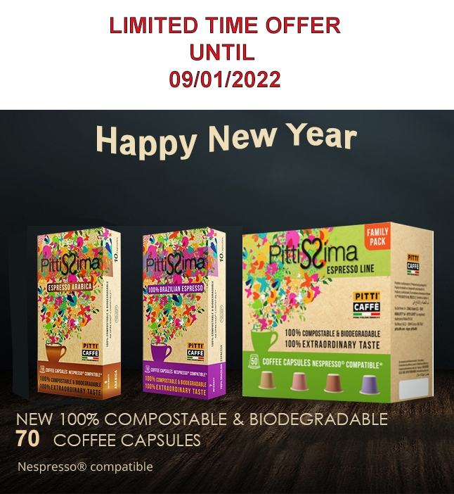 SPECIAL OFFER 4 PACK NESPRESSO COMPATIBLE CAPSULES PITTISSIMA  BY MOKA EFTI